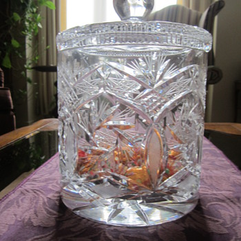 Crystal Jar Made in Czechoslovakia - Glassware