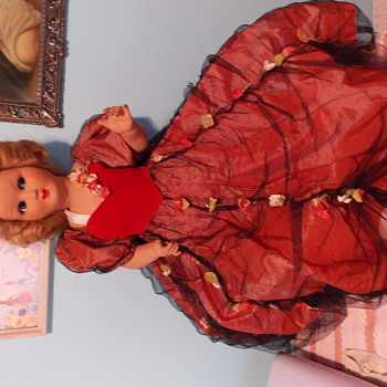 "Unmarked 32"" fully articulated hard plastic doll"
