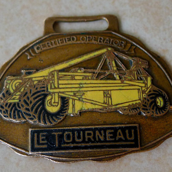 LeTourneau Pull Scraper Certified Operator Enamel Watch Fob