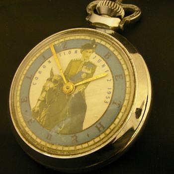 1953 Queen Elizabeth II Coronation Pocket Watch - No. 2