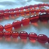 Art deco cherry amber bead necklace