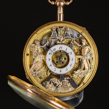 Pocket Watch - Skeletonized Quarter Hour Repeater Complication with Automata. c1810 - Pocket Watches