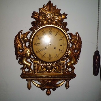 very subtle swedish  Westerstrands cartel clock - Clocks