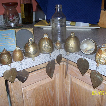 ANTIQUE CHINESE BRASS TEMPLE BELLS - Asian