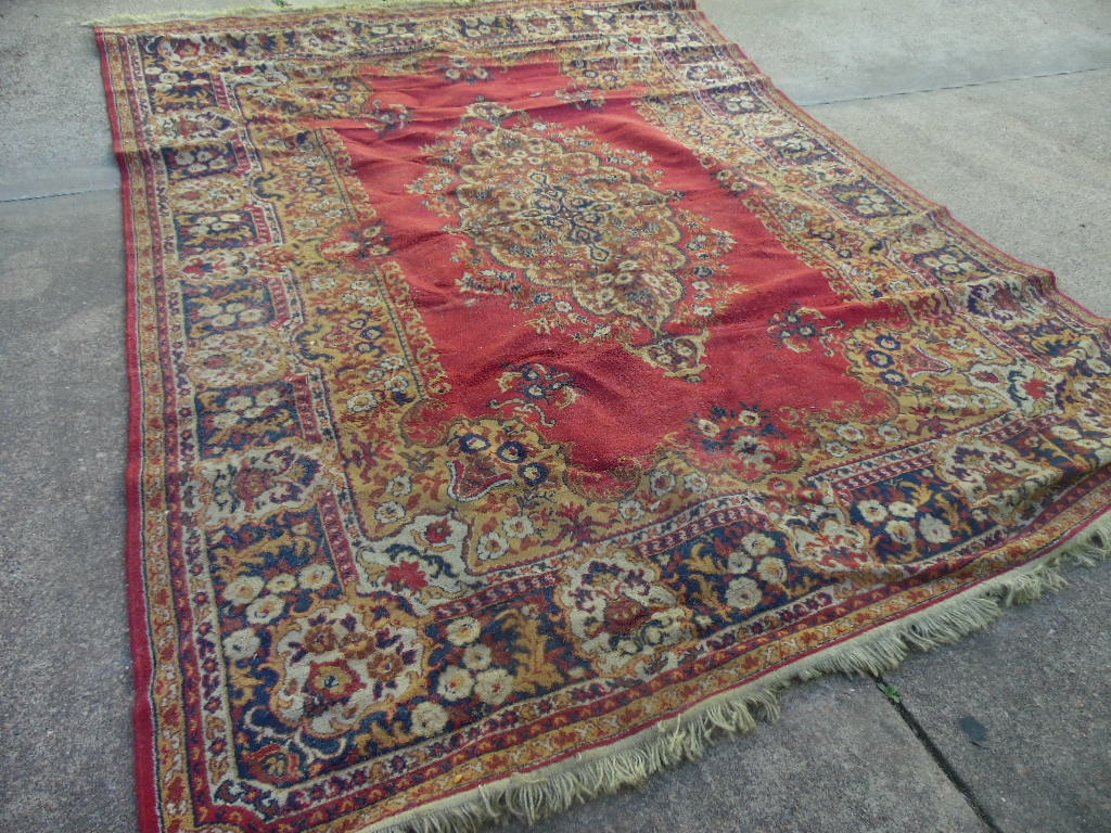 Large Antique Wool Rug Persian Collectors Weekly