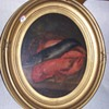 ANTIQUE OIL PAINTING STILL LIFE LOBSTER FISH 19TH/EARLY 20TH CENTURY