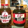 More glass oil bottles