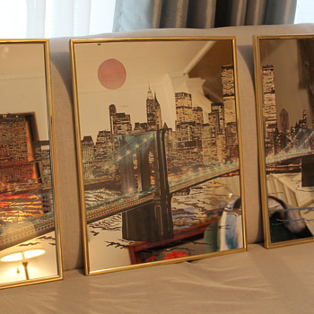 Brooklyn Bridge and New York City Skyline Wall Mirror