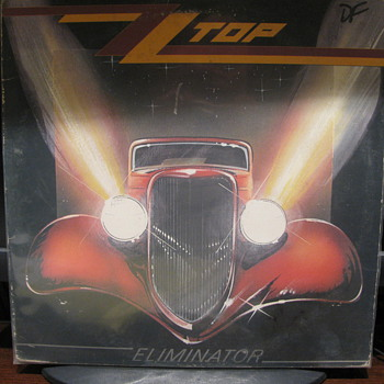 ZZ TOP Eliminator Album and 45rpm - Records