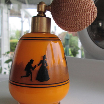 BOHEMIAN/CZECH TANGO PERFUME BOTTLE..HARRACH?? - Art Glass