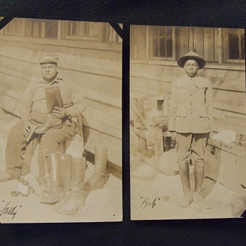 Two African American Boot shiners from WW1 - Advertising