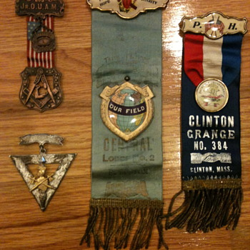 Fraternal Pins and Ribbons - Medals Pins and Badges
