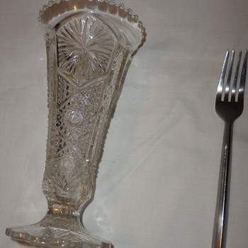 10inches Depress Glass Vase - Glassware