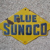 Original 1940's Sunoco Porcelain Pump Sign