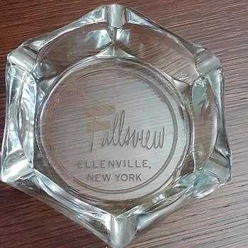 The Fallsview, Ellenville, NY -1960's advertising ashtray - Advertising