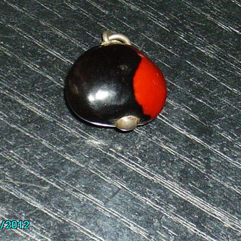 bean type charm with silver pin through it - Fine Jewelry
