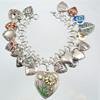 Heart Charm Bracelet --1940s onward