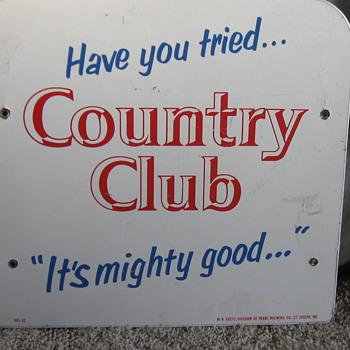 1962 Goetz Country Club Beer masonite sign - Signs