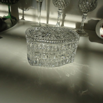 CUT GLASS TRINKET BOX - Glassware