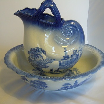 staffordshire flow blue venetian - China and Dinnerware