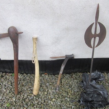 Selection of axes and club - Military and Wartime