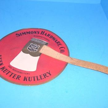 E.C.Simmons Keen Kutter Handheld Paper Fan (RARE) - Advertising