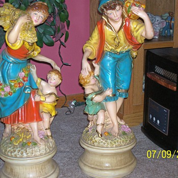 Peasant Statues 36: Tall - Pottery