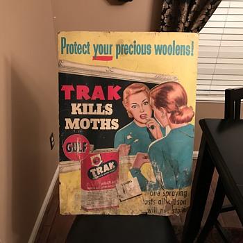 1952 GULF TRAK poster - Petroliana