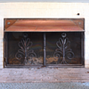 Antique Copper Fireplace Surround