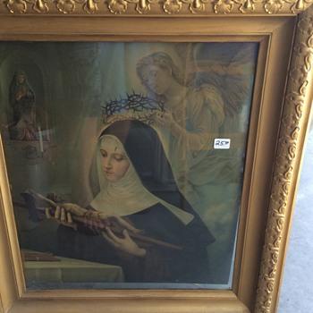 Antique Lithograph OF Saint Rita - Fine Art
