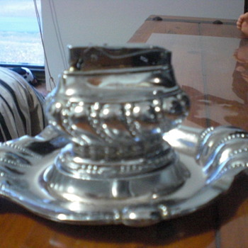 Table lighter with tray - Silver