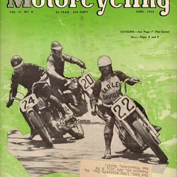 "1952 - ""American Motorcycling"" Magazine - Paper"