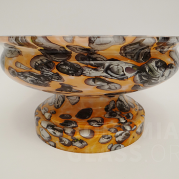 Bohemian two-part centerpiece bowl - Art Glass