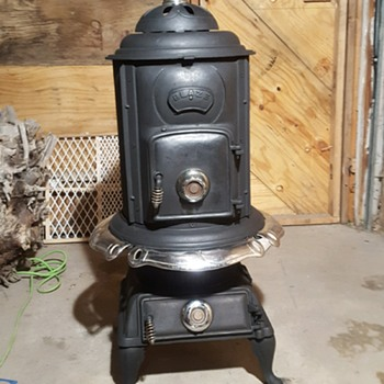 Old pot belly parlor stove