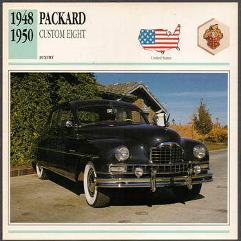 Vintage Car Card - Packard Custom - Classic Cars