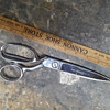 a pair of CLAUSS shears, plus a probably more historic (than I realized) wooden ruler