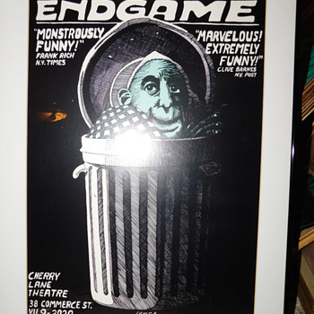 Rare Mint Vintage 1984 Samuel Beckett's ENDGAME Theatre Card Poster By JAN SAWKA Vintage Frame - Advertising