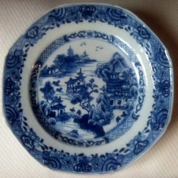 Really old porcelain plate - Asian