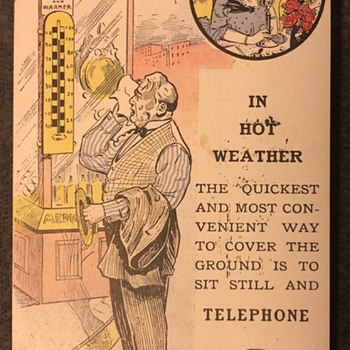 "SNET ""Hot Weather"" post card - Postcards"