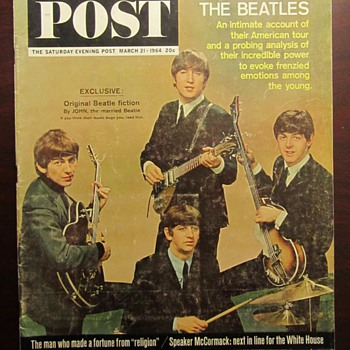 Saturday Evening Post Bettles Cover March 1964 - Paper