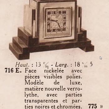 1929 Leon Hatot Bakelite ATO clock - Clocks