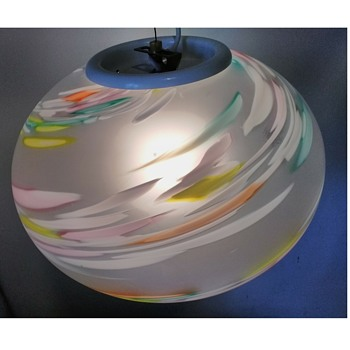 Murano globe pendant lamp - Art Glass