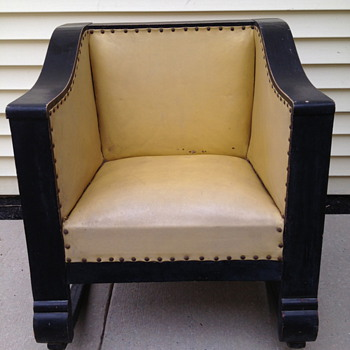 Antique Empire Cube Chair Rocker - Furniture