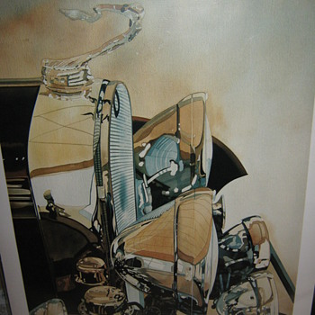 "Signed Vintage Cadillac print ""Caddychrome"" by Charles W. Mundy"