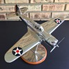 VERY RARE Original Curtiss-Wright Propellers Cast Metal and Chrome P-36A Factory Model