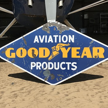 1946 Goodyear Aviation Products Sign - Advertising