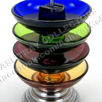 5 Piece Colored Ashtray Set - Tobacciana