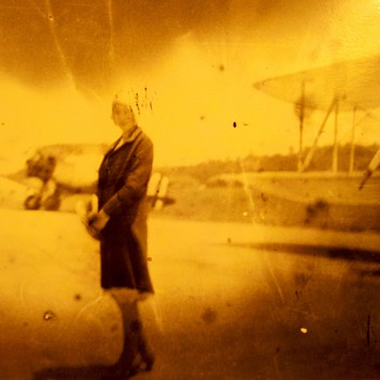 unknown mystery girl, early aviation.... - Photographs