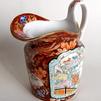 My favorite piece of antique Japanese fine porcelain pitcher - Fukagawa - Asian
