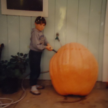 Photograph  My son years ago Giant Pumpkin Contest!!! and graduation!!  UCSC - Photographs